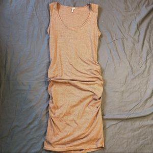 Ripcurl striped blush ruched side dress size L
